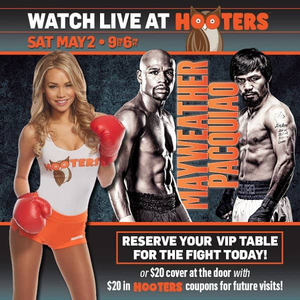 Catch the Fight of the Century at Hooters: Mayweather vs. Pacquiao