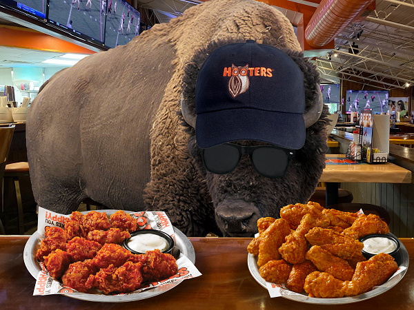 Hooters Ups the Ante on Buffalo Wild Wings 'Free Wings Offer'