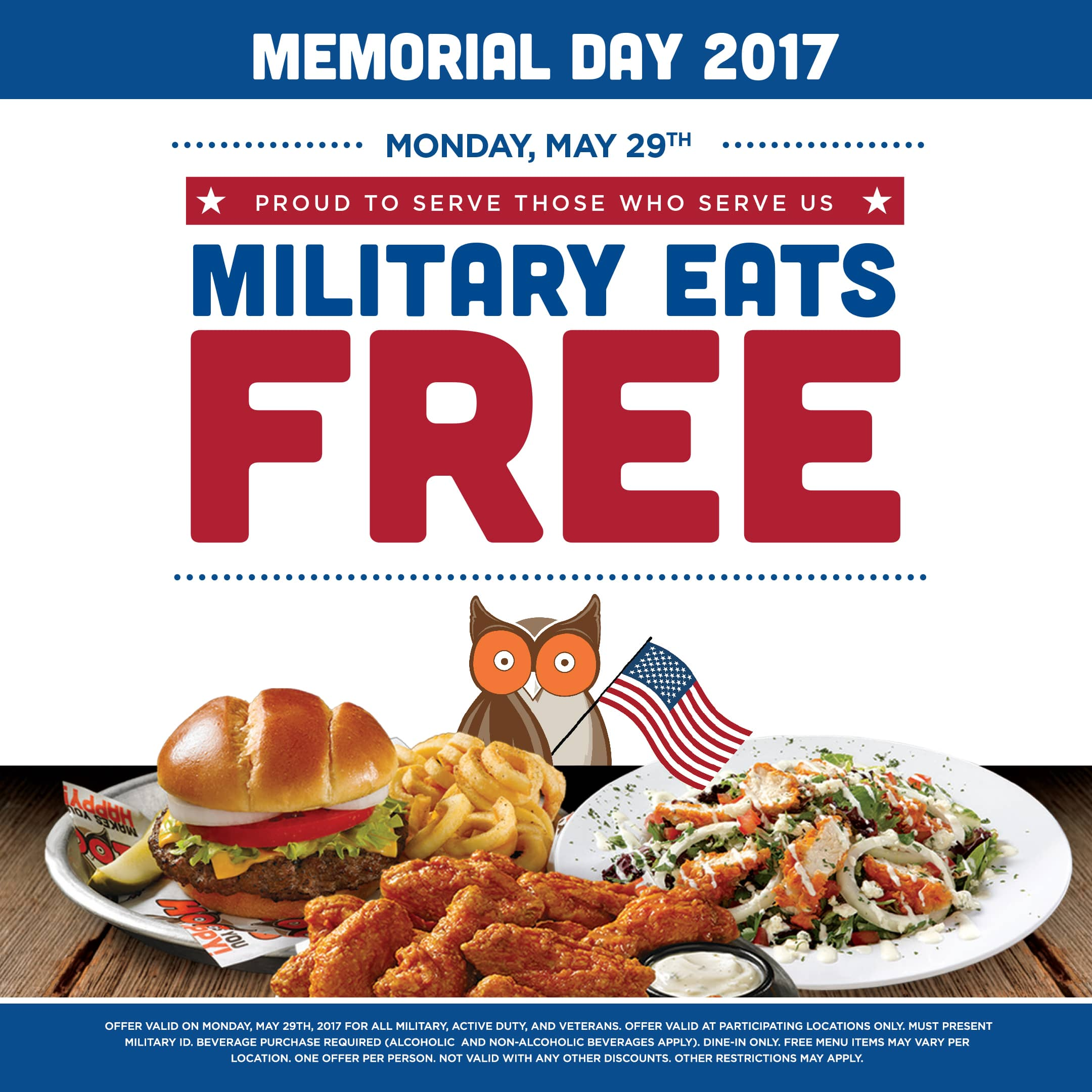 Abby Hooters Calendar May : Hooters serves free meals to military on memorial day