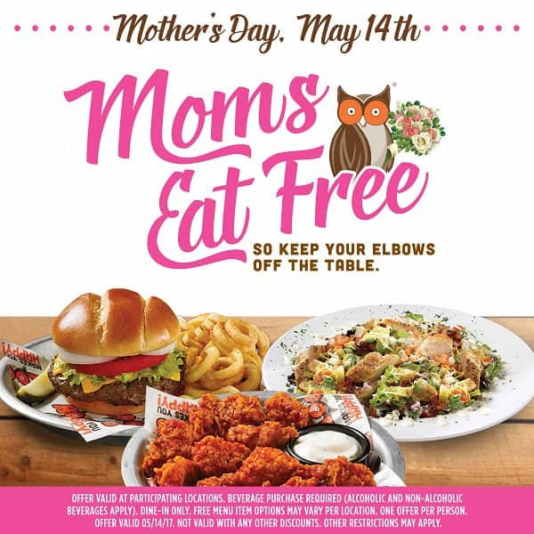 Hooters Thanks Moms With Free Meal On Mothers Day Hooters