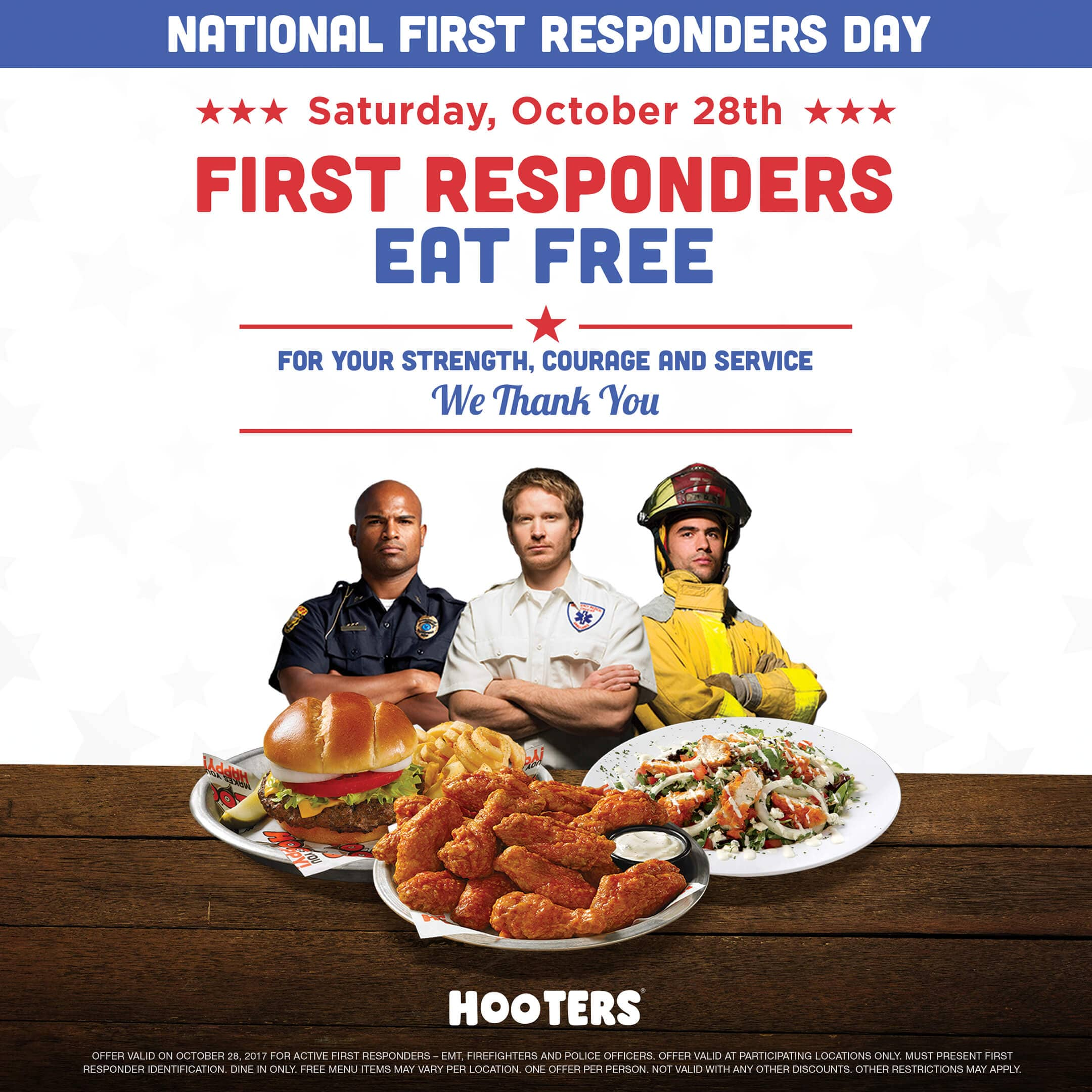 House On Hooter Hill first responders eat free at hooters on october 28 | hooters
