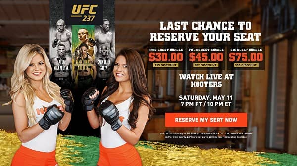 Hooters to Show UFC 237