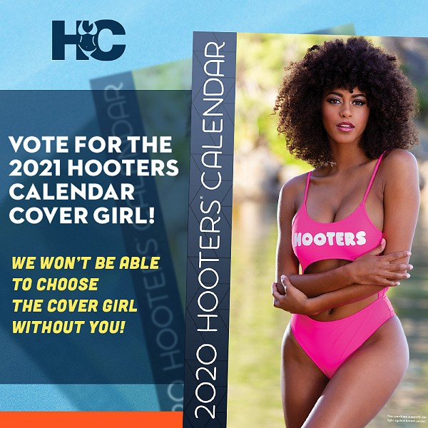 Vote for Your 2021 Hooters Calendar Cover Girl!