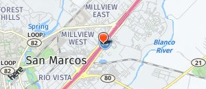 Location of Hooters of San Marcos TX on a map