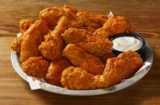Hooters Wing Menu