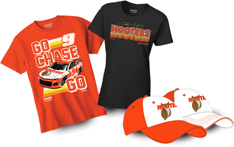 5bfd6650 A variety of Hooters Merch including t-shirts, coozies, hats, posters and