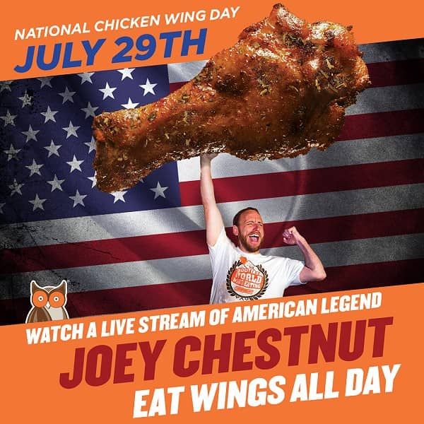 How Many Wings Will Joey Eat on National Chicken Wing Day?